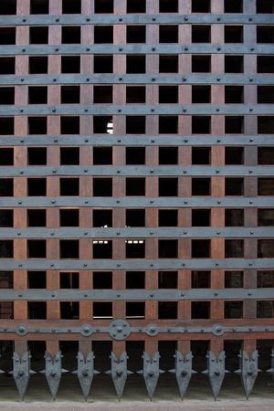 portcullis: cancello di Castello Archivio Fotografico