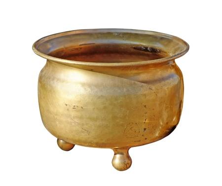 chamber pot: Antique copper chamber-pot