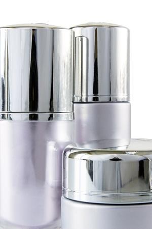 luxury cosmetic set isolated on white