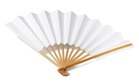 Traditional japanese fan  Stock Photo