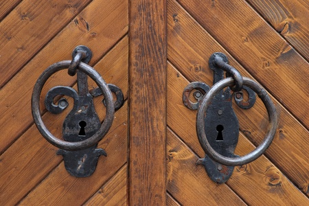 Gate with knobs photo