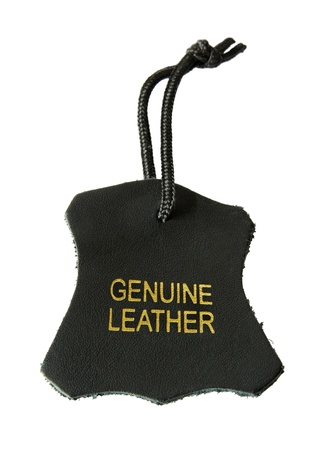 Echtes Leder-Label Standard-Bild - 10400523