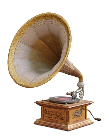 Gramophone isolated photo