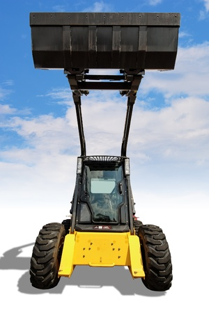 skid: Small loader with clipping path Stock Photo