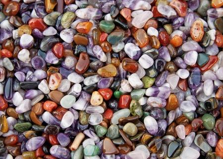 Veelkleurige stenen achtergrond Stockfoto