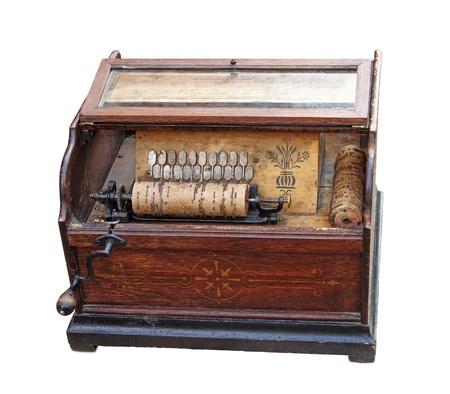 Vintage boom-box (organ-grinder) for plaing music