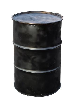 Barile di petrolio isolato su bianco