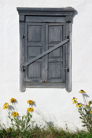 Ancient house closed window Stock Photo - 10396192