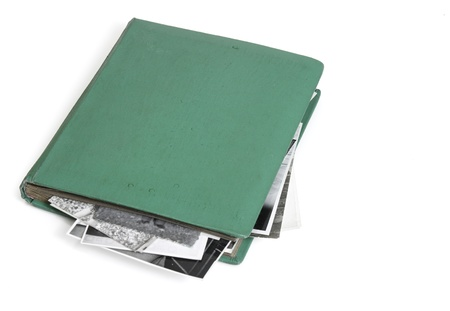 ged: Vintage photo album with black and white photos