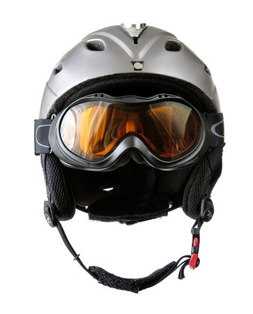 ski goggles: skier helmet with goggle
