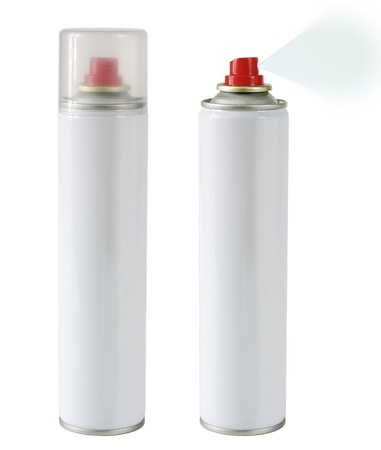 aerosol can: sprays isolated Stock Photo