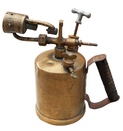 blowtorch: Old blowtorch isolated