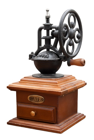 Vintage coffee mill isolated Stock Photo - 15766182