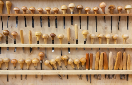 carpentry tools: Set of chisels