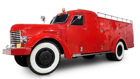 antique fire truck: 1950s fire truck