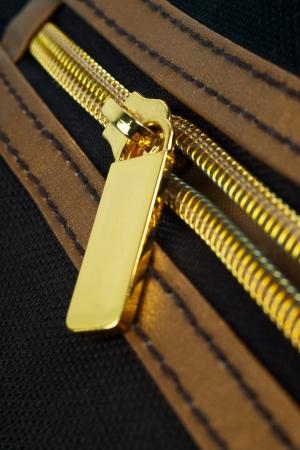 undressing: Golden zipper