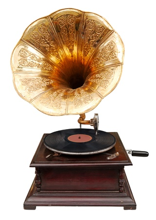 reproductive technology: Vintage gramophone Stock Photo