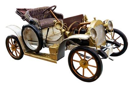 Oldtimer Spielzeug isoliert Standard-Bild - 15766422