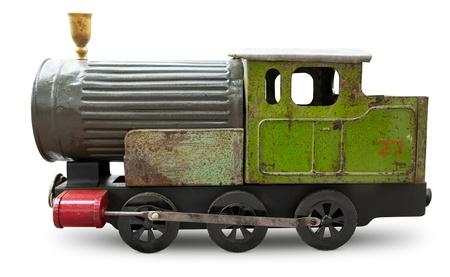 Altes Spielzeug - Lokomotive isoliert Standard-Bild - 15766702