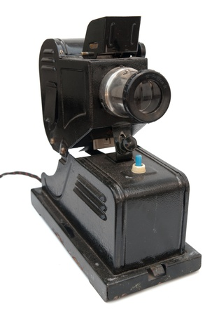 Vintage projector for 35mm slides photo