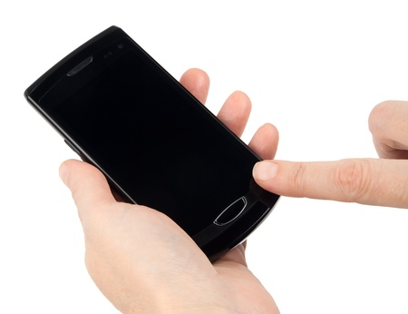 Modern touch screen phone Stock Photo