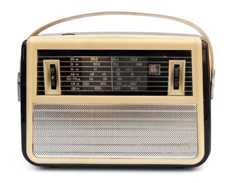 transistor: Vintage Radio portátil aislados en blanco Foto de archivo