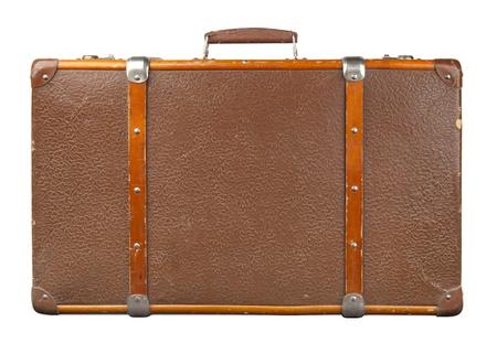 suitcases: Vintage koffer geà ¯ soleerd Stockfoto