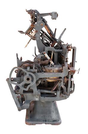 Old printing press Stock Photo - 22973765