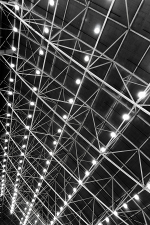 Ceiling with lamps texture photo
