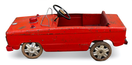 Old toy pedal car  Stock Photo - 22973835