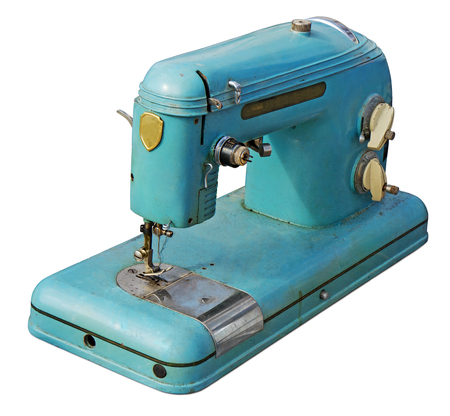 household objects equipment: Old sewing machine  Stock Photo