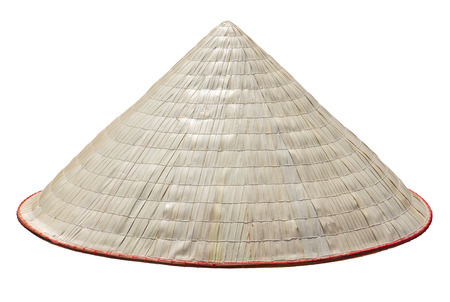 Old Vietnam straw hat Standard-Bild