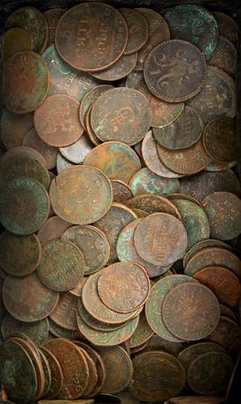 copper coin: Old coins background