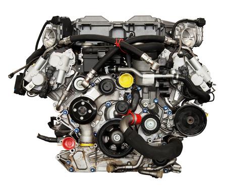 Modern powerful engine isolated on white  Stock Photo