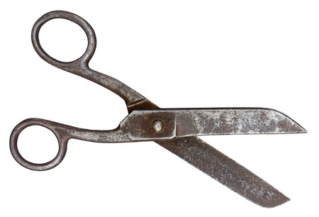 Old scissors isolated  photo