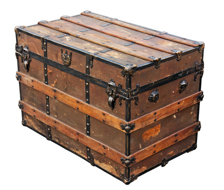 Ancient chest.