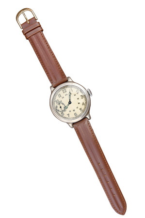 straps: Old watches isolated. Clipping path included