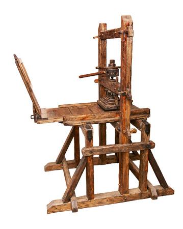 printing machine: Ancient printing press