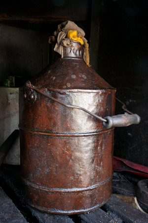 kerosene: Old can with lubricant