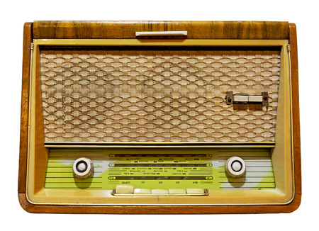 shortwave: Old radio isolated. Clipping path included.