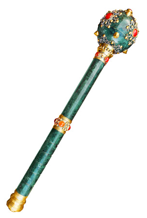 scepter: Scepter mace isolated, Clipping path included. Stock Photo