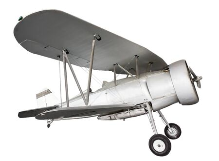 Ancient plane isolated. Clipping path included.