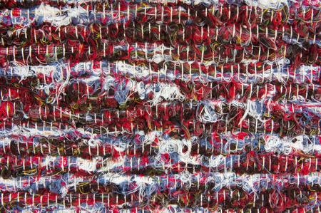 homespun: Traditional homespun carpet texture Stock Photo