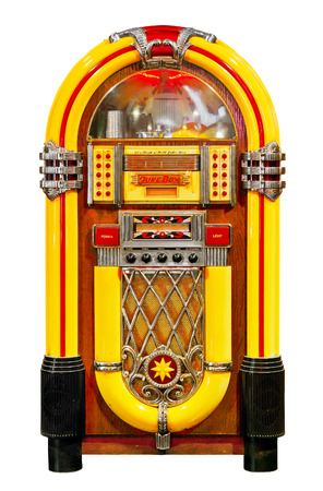 jukebox: Jukebox isolated. Clipping path included. Stock Photo