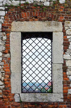 roof windows: Ancient castle window Stock Photo