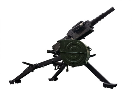 barrel bomb: Automatic grenade launcher. Clipping path included.