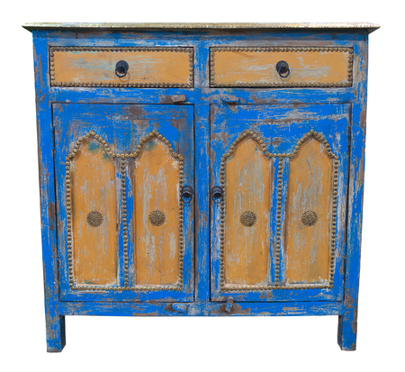 sideboard: Old sideboard isolated. Clipping path included.