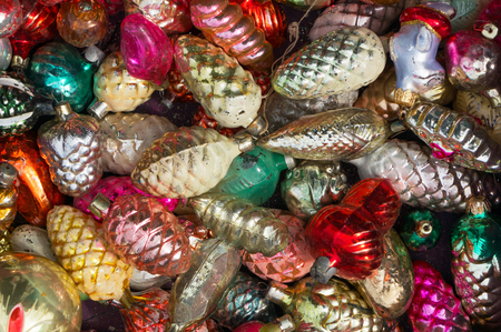 a lot of old christmas decorations stock photo 65141125 - Old Christmas Decorations