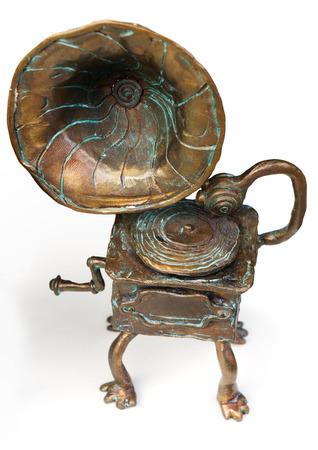 Vintage gramophone figurine
