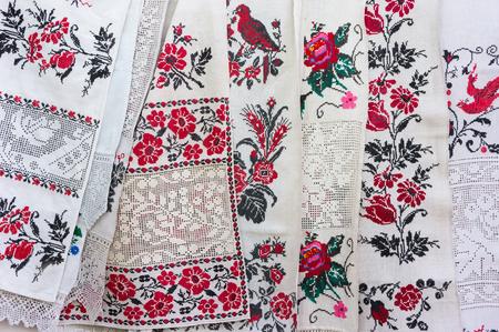 ukrainian: Ukrainian traditional embroidery Stock Photo